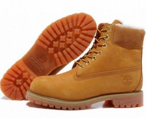 зимние ботинки Timberland из плотного меха